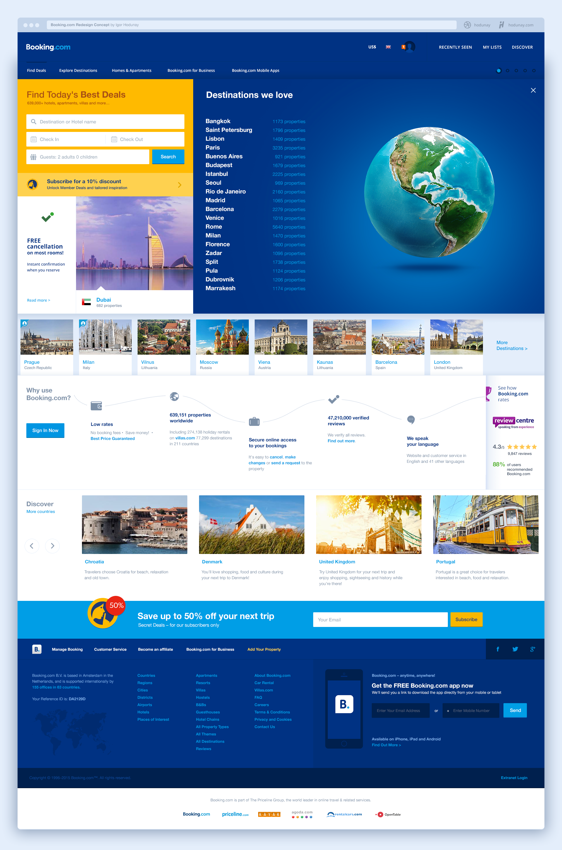 Booking Com Homepage Destinations Hotel Website Holiday Hotel Redesign
