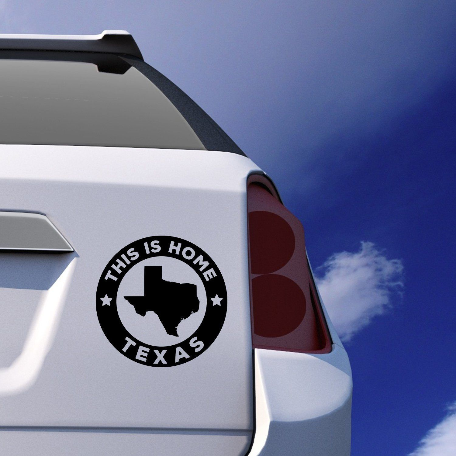 Texas this is home car sticker vinyl decal