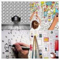 Kid Spaces: 9 Paintable Creative Wallpapers