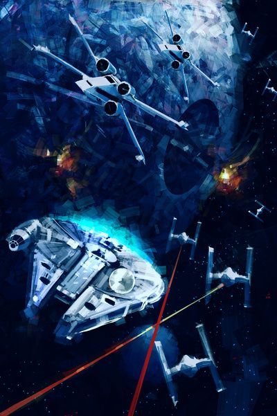 Star Wars Death Star Attack Art Print