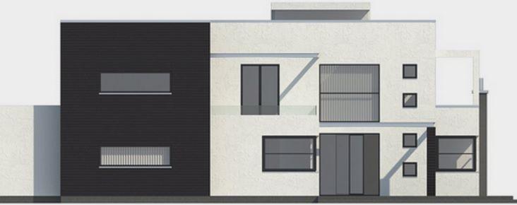 Casa moderna con piscina en el jard n trasero corte for Casa moderna jardin d el menzah