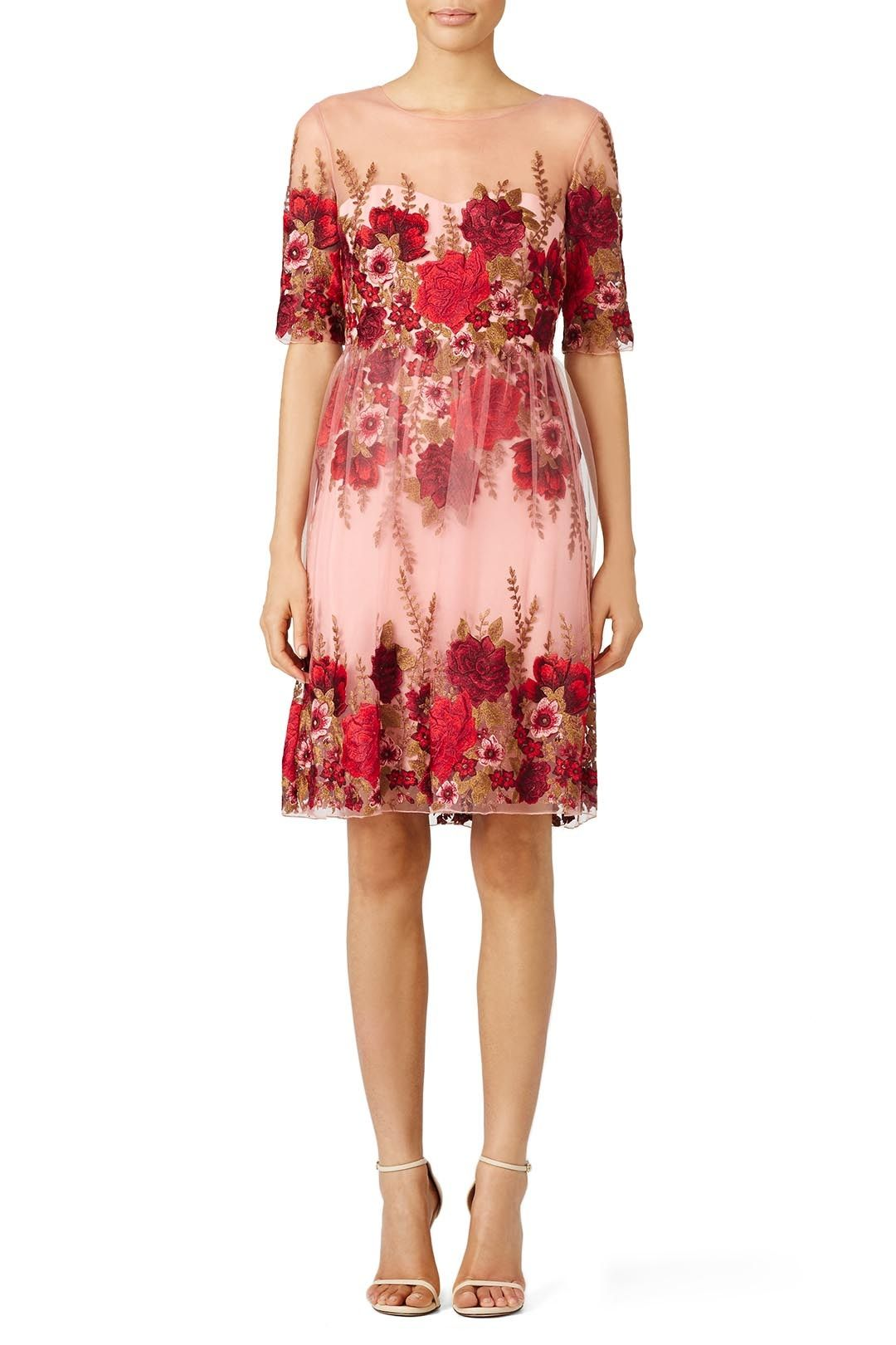 2253d9f2db9bb Rent Rose Throw Dress by Marchesa Notte for $135 only at Rent the Runway.