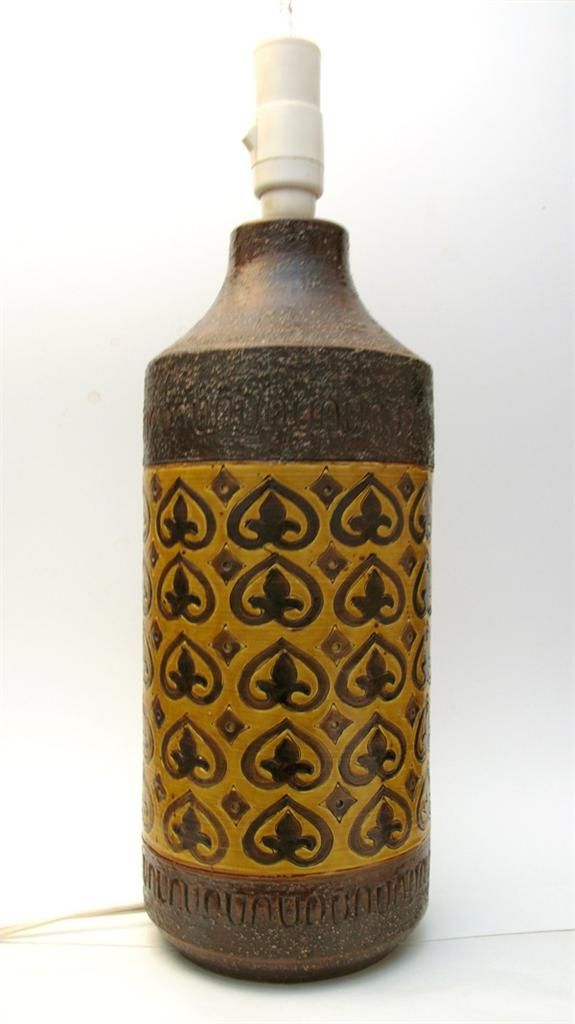 Retro Vintage Bitossi Italian Pottery Lamp Base Mid