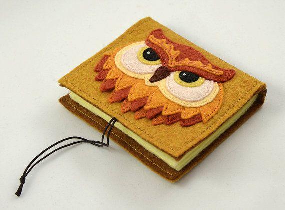 Felt Owl Needle Book Sewing Needle Case Door