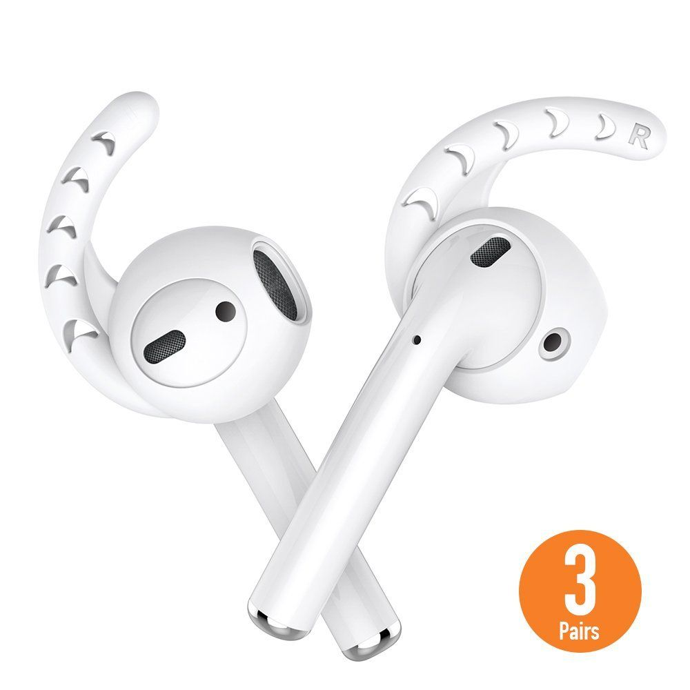 Duszake Replacement Soft Silicone Antislip Ear Cover Hook Earbuds Tips Earphone Silicone Case For Airpods Apple Ea Apple Earphones Consumer Electronics Earbuds