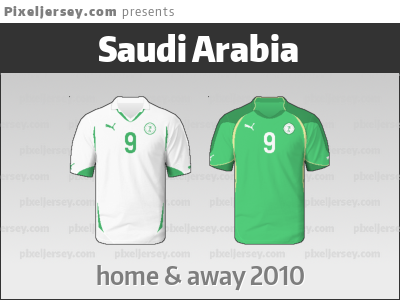 timeless design 7c647 d0dde Saudi Arabia's beautiful jerseys from 2010. They failed to ...