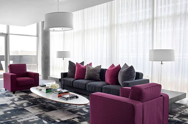 Erstaunlich, Lila Und Grau Wohnzimmer Ideen #Badezimmer #Büromöbel ...