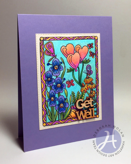Get Well card by Deborah Nolan... so colorful and cheery