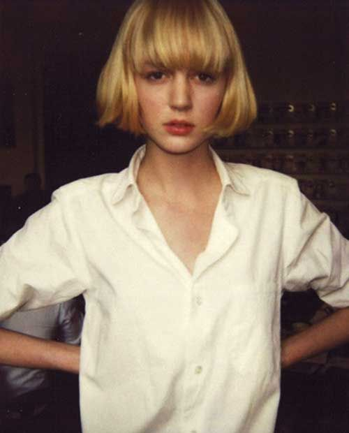 Short Hair Blonde Outdoor