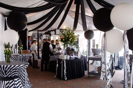 Black White Party In A Tent White Party Decorations Black And