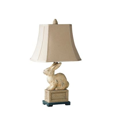 Uttermost leverette french country rabbit table lamp i love the pig table lamps aloadofball Image collections