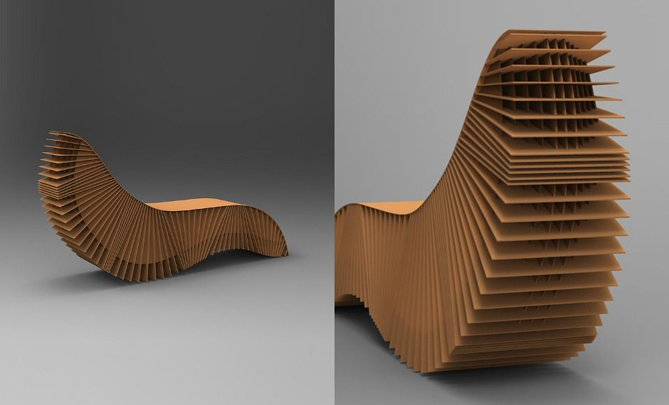 Corrugated Cardboard Chaise Lounge From Designer Adrian Candela Never Made It To Production Unfortunately