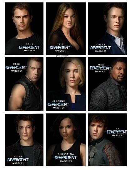 Divergent Characters Movie With Names