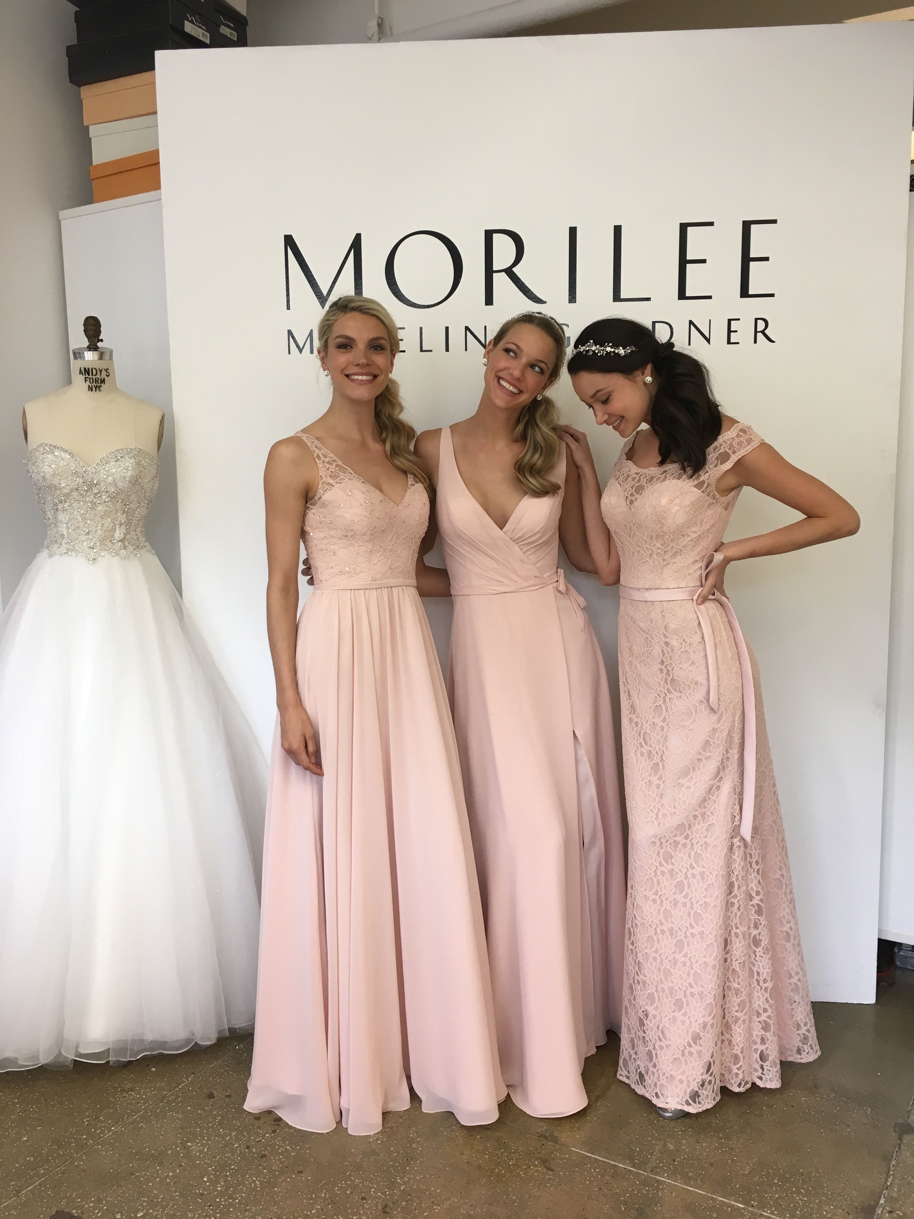 Morilee by Madeline Gardner Long Blush Mix and Match Bridesmaid ...