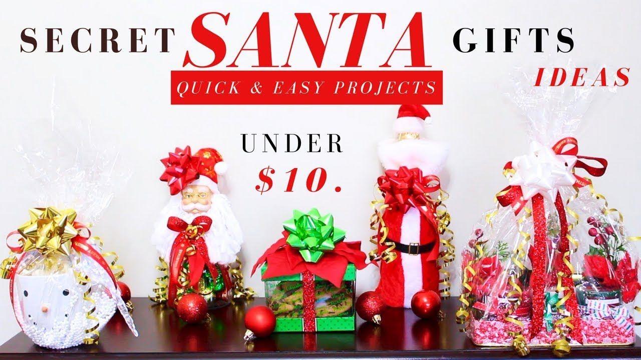 Diy Secret Santa Gift Ideas Dollar Tree Christmas Gifts Ideas Quick Easy Under 10 Yout Diy Dollar Tree Gifts Dollar Tree Christmas Dollar Tree Gifts