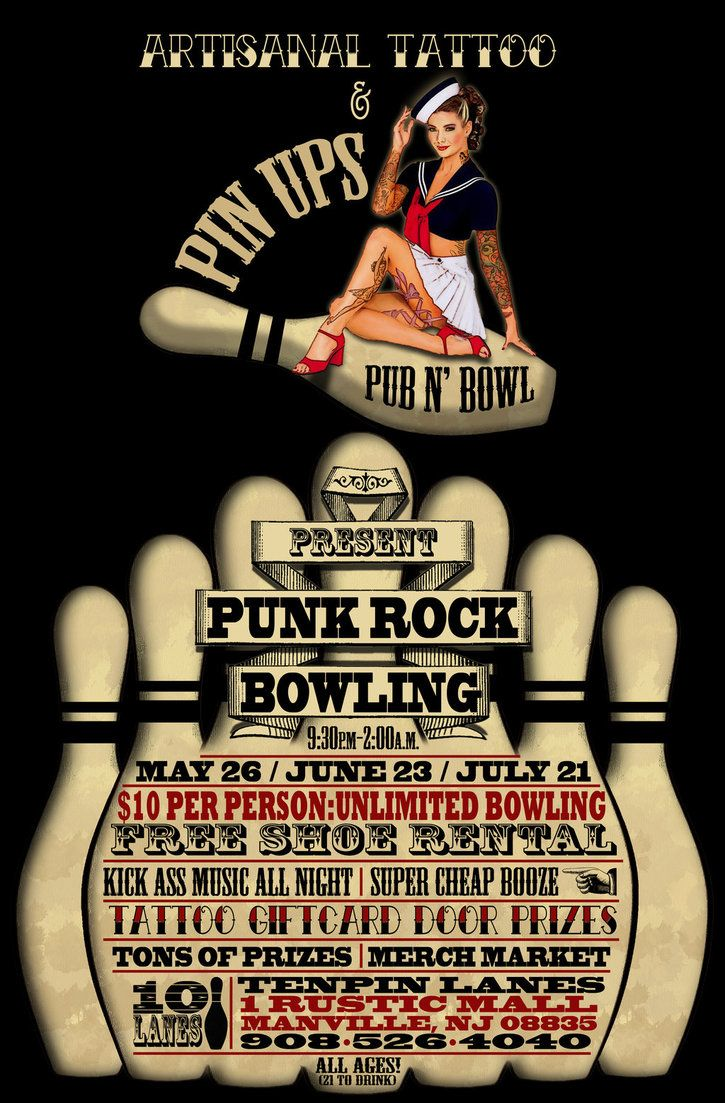 Punk Rock Bowling Flyer By Bmansnuggles  Shtuff