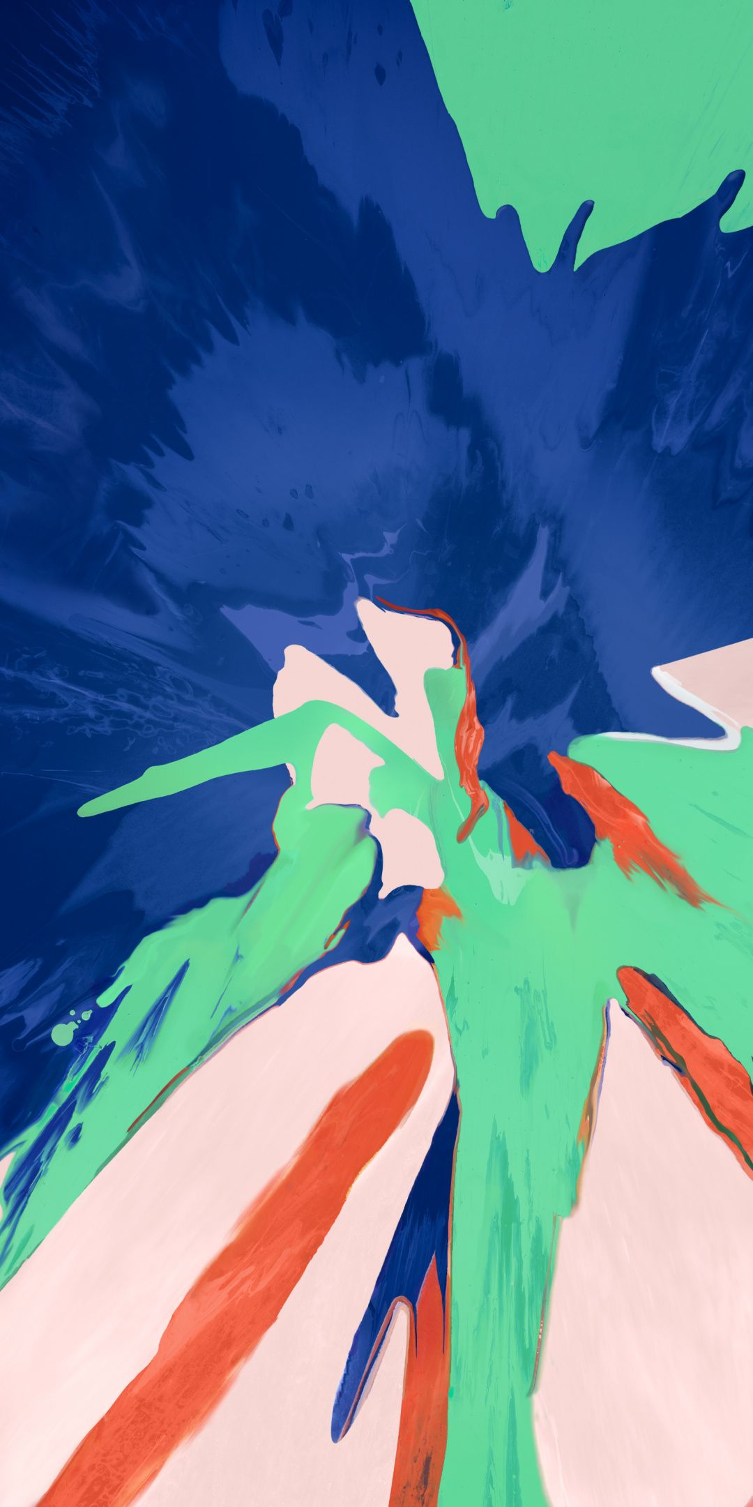 Splash, abstract, texture, paint, colorful, 1080x2160 wallpaper   Wallpaper in 2019   Fondos de ...