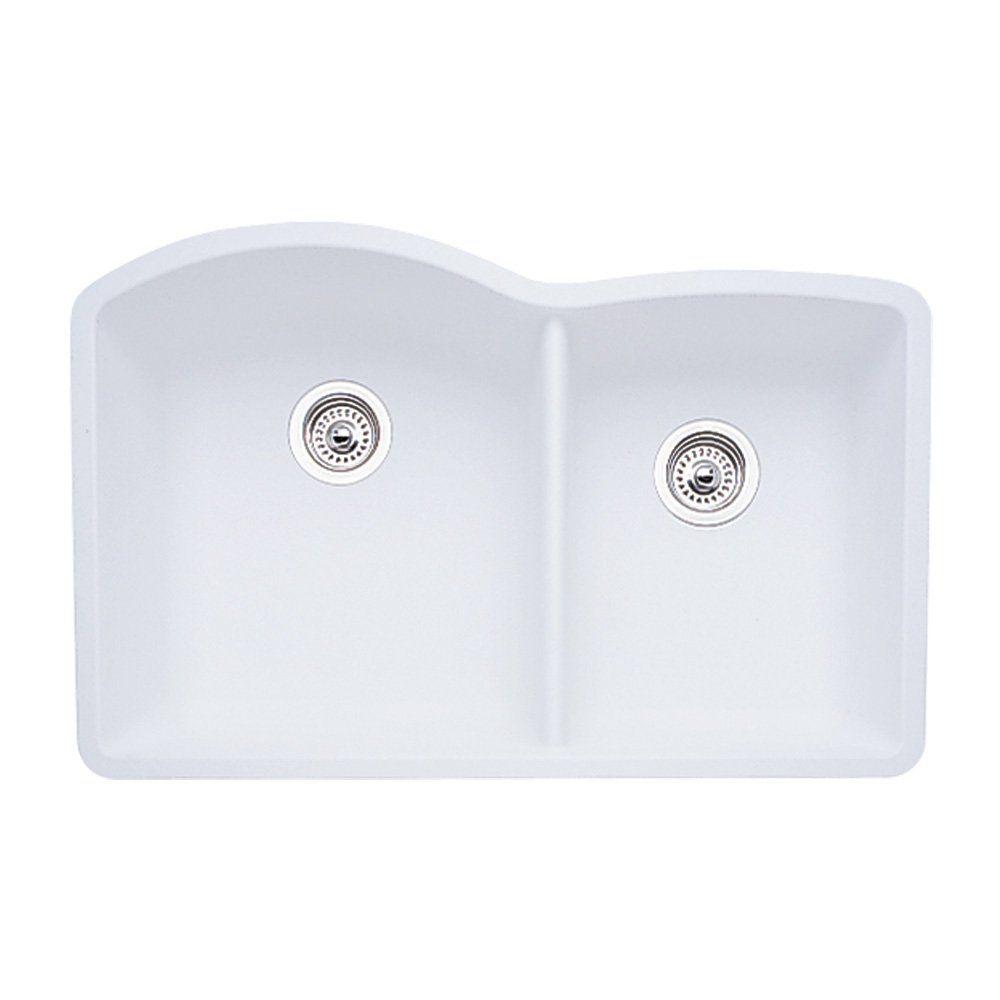 Blanco BL440180 Diamond 1 3/4 Inch Bowl, White   Sink Strainers   Amazon.com