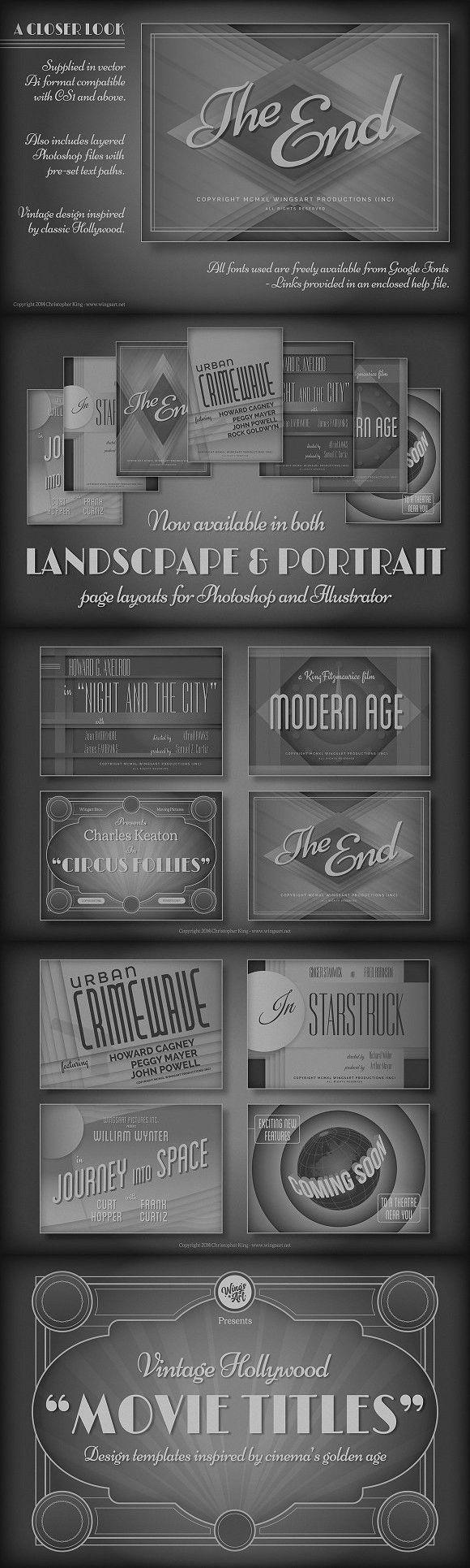 Vintage Hollywood Movie Titles Movie titles, Vintage