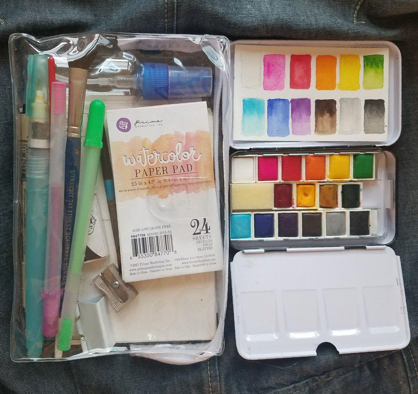 Downsizing My Watercolor Sketching Kit Walgreens 5 99 Cosmetic
