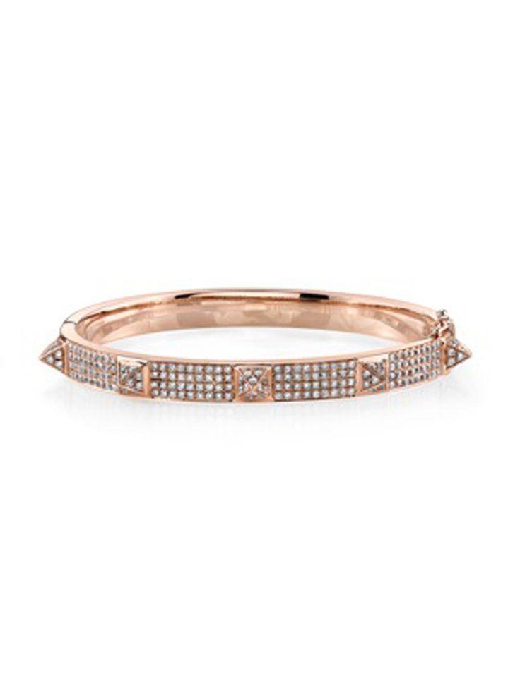 Oval Bracelet with 3 Round Diamonds Anita Ko gAPJSQ