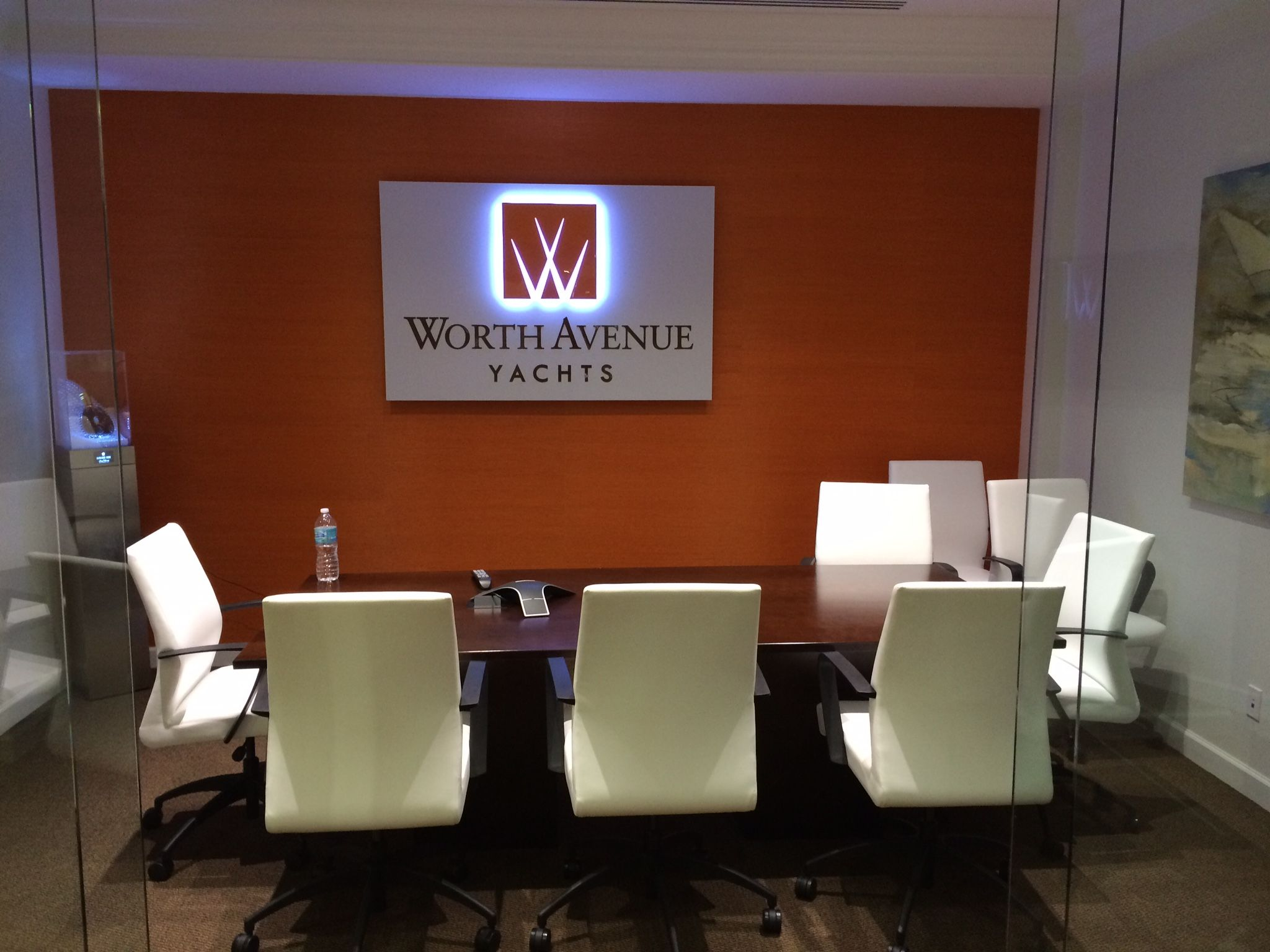 With Worth Avenue Yachtss New Installation Of Our Sri Lanka Wallcovering In Their Corporate Office Conference