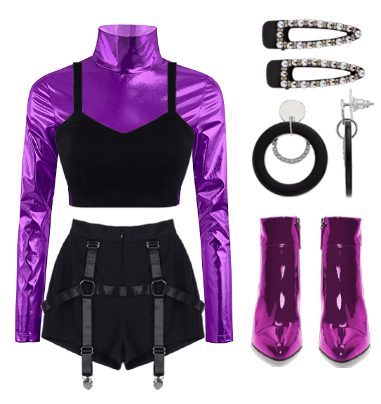purple stage outfit idea Outfit