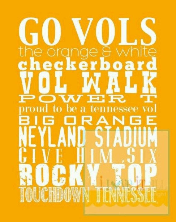 Go Vols Go Vols Tennessee Tennessee Football