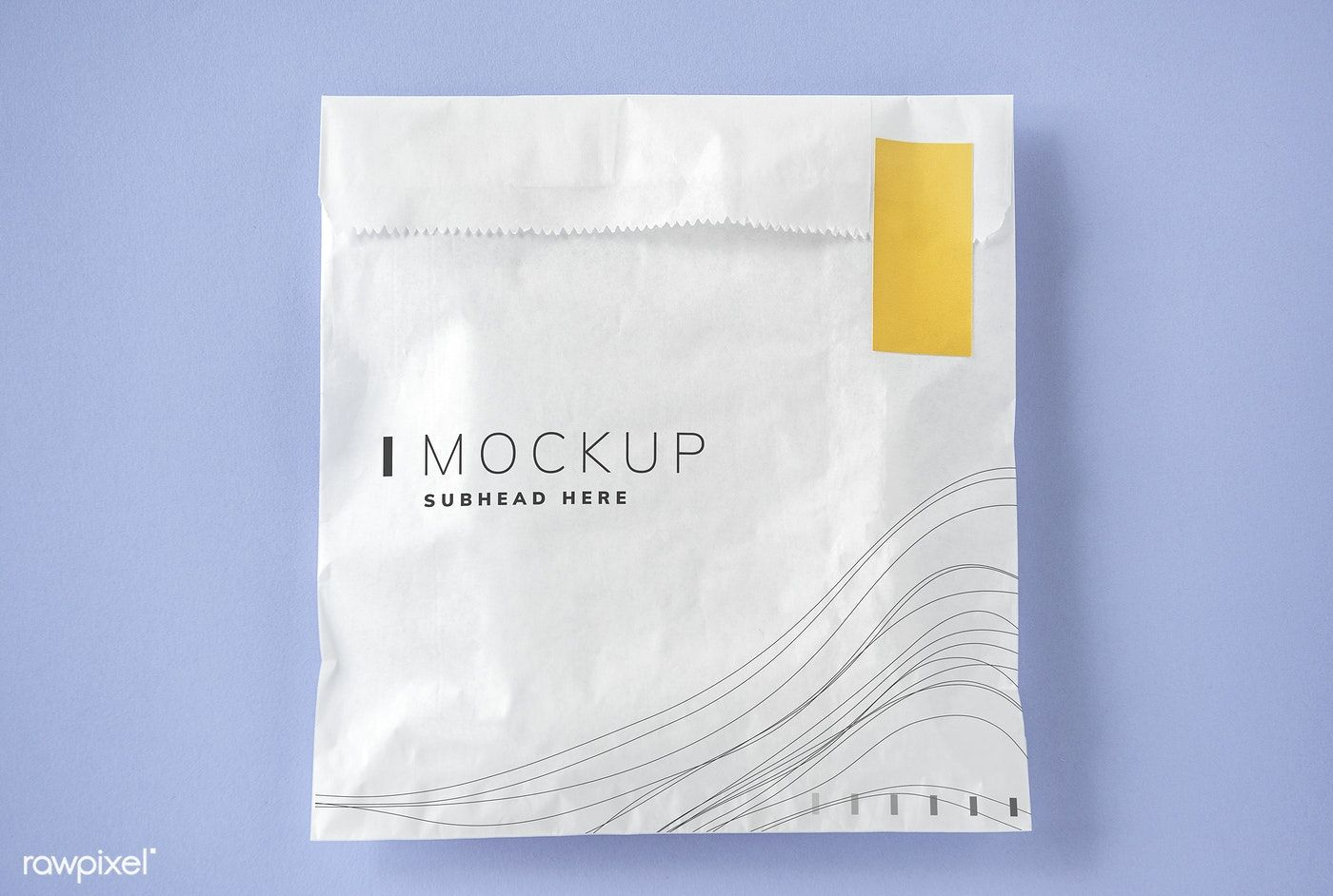 Download White Package Mockup With A Yellow Seal Free Image By Rawpixel Com