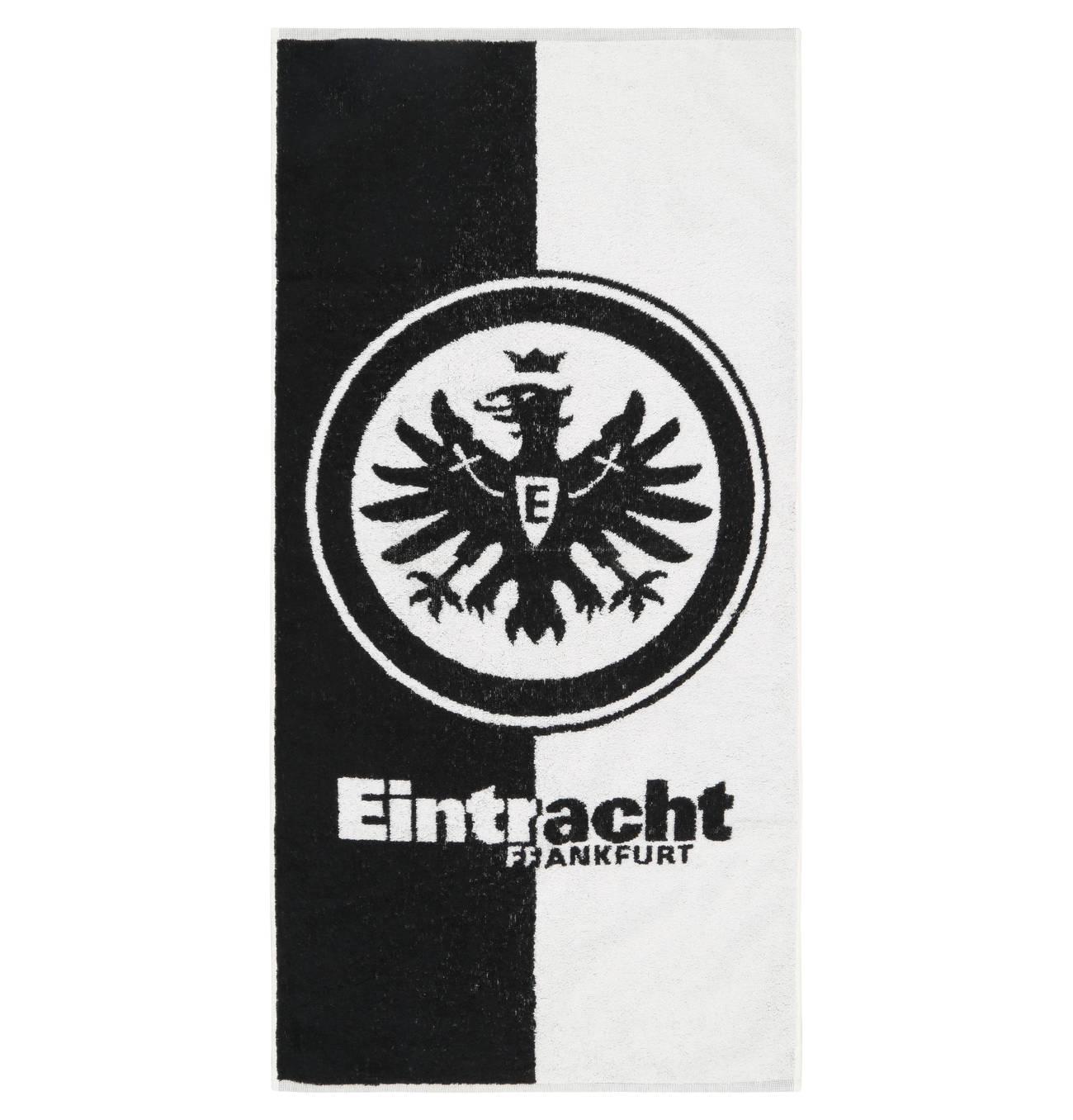 Eintracht Frankfurt Handtuch Frottier Streifen Wappen Eintracht Frankfurt Eintracht Frankfurt