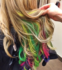 Coloring Hair Extensions | Colors, Pastel and Natural