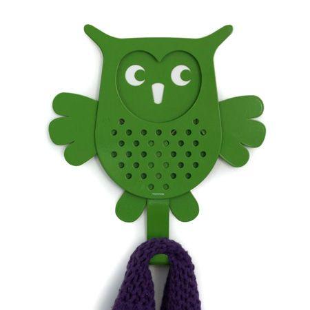 Owl abrigo verde -