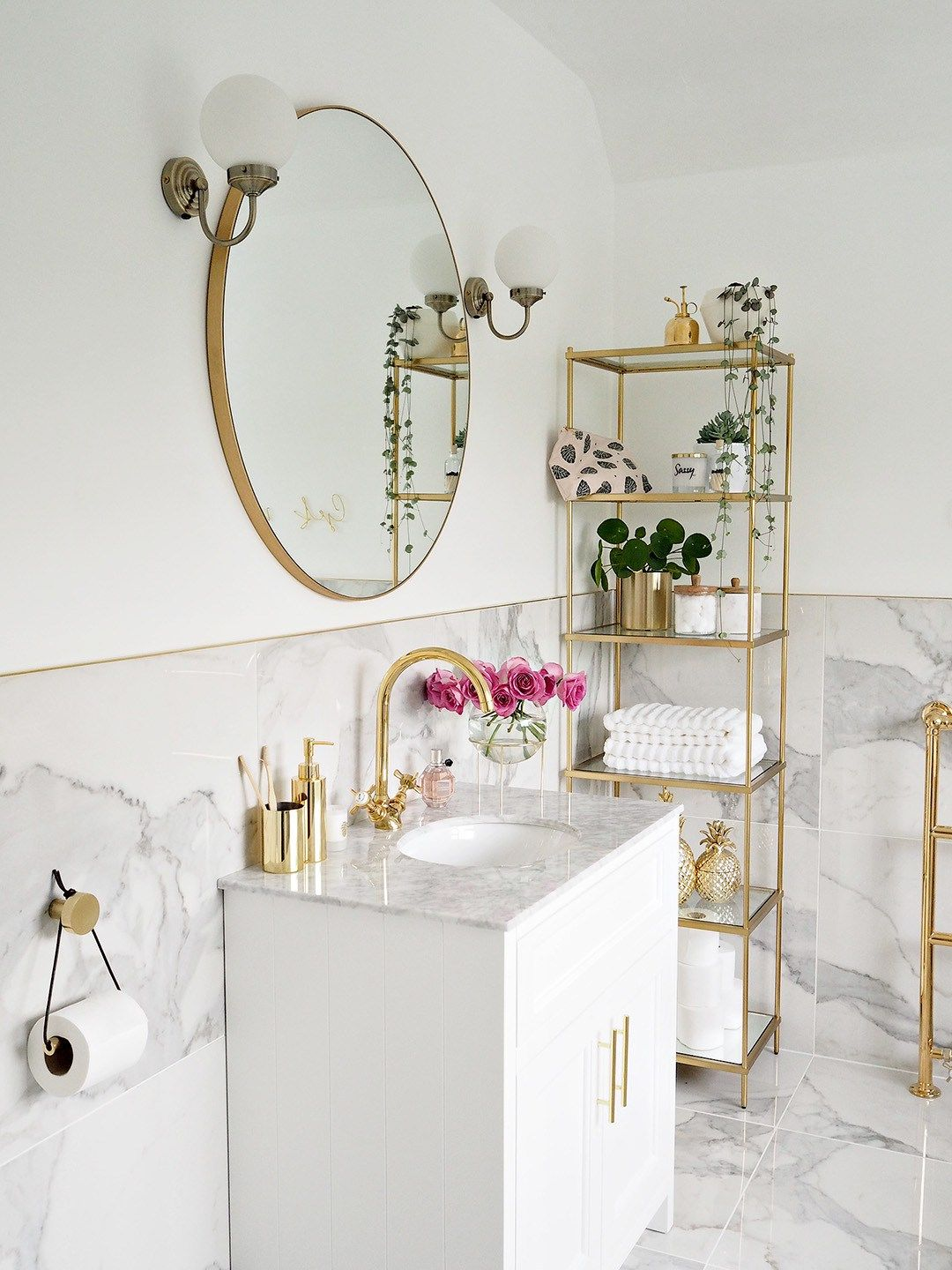 Marble & Gold Bathroom Reveal (Lust Living) | Interiors and Castles ...