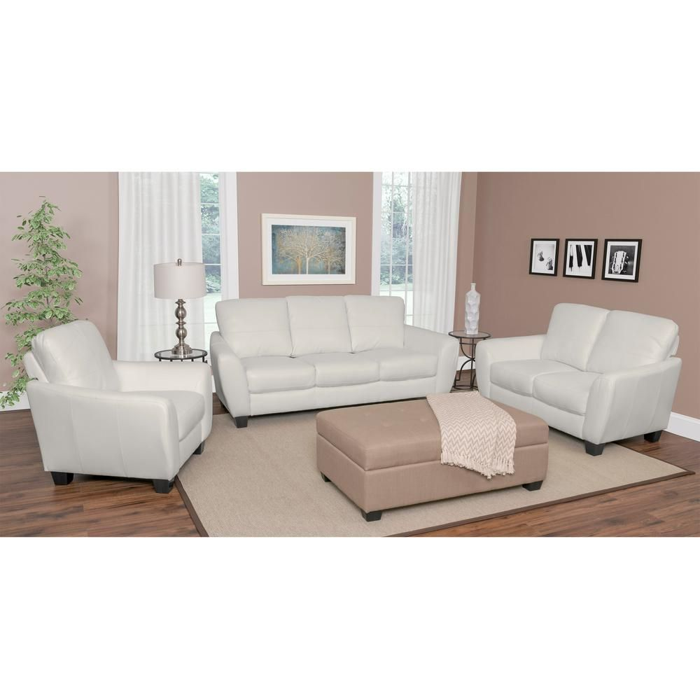 Jazz 3 Piece White Bonded Leather Sofa Set Products Leather Sofa Set Leather Sofa Sofa Set