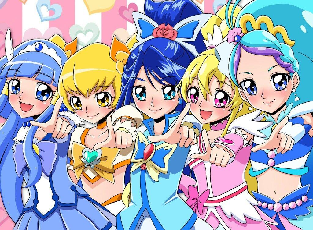 Beauty,Sunshine,Aqua,Heart,Mermaid プリキュア イラスト, 東映アニメーション