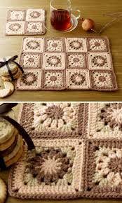 Resultado de imagem para croche square tapete