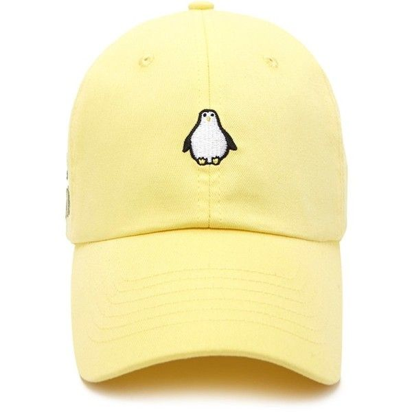 0cc3efbd Forever21 No Chill Penguin Baseball Cap (460 DOP) ❤ liked on Polyvore  featuring accessories, hats, baseball cap hats, forever 21, embroidery hats,  ...