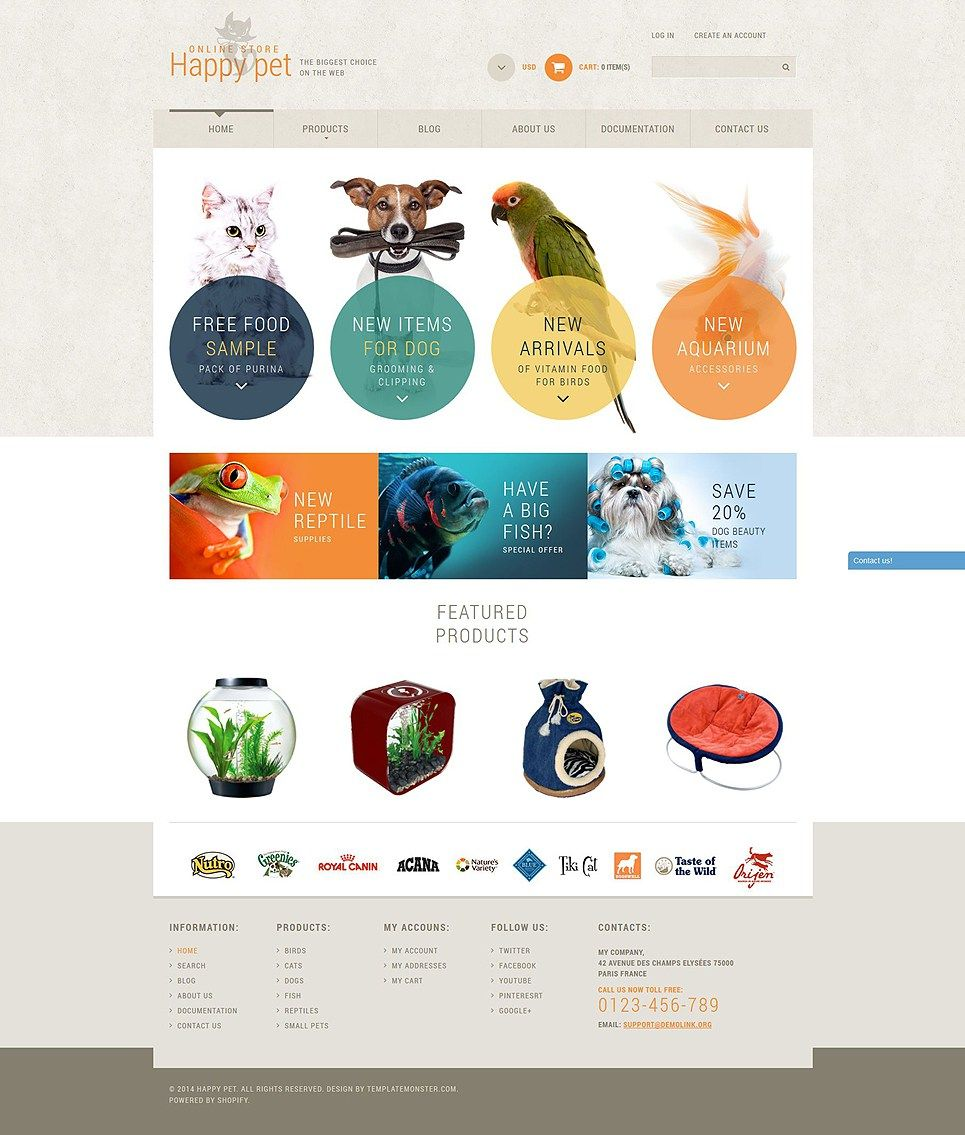 5 Pet Supplies Store Themes For Shopify Pet Websites Pets Pet