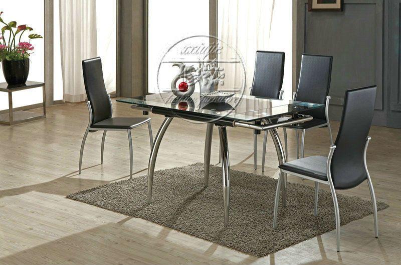 Vidrio estilo extractor tamaño 4 sillas mesa comedor conjuntos ...