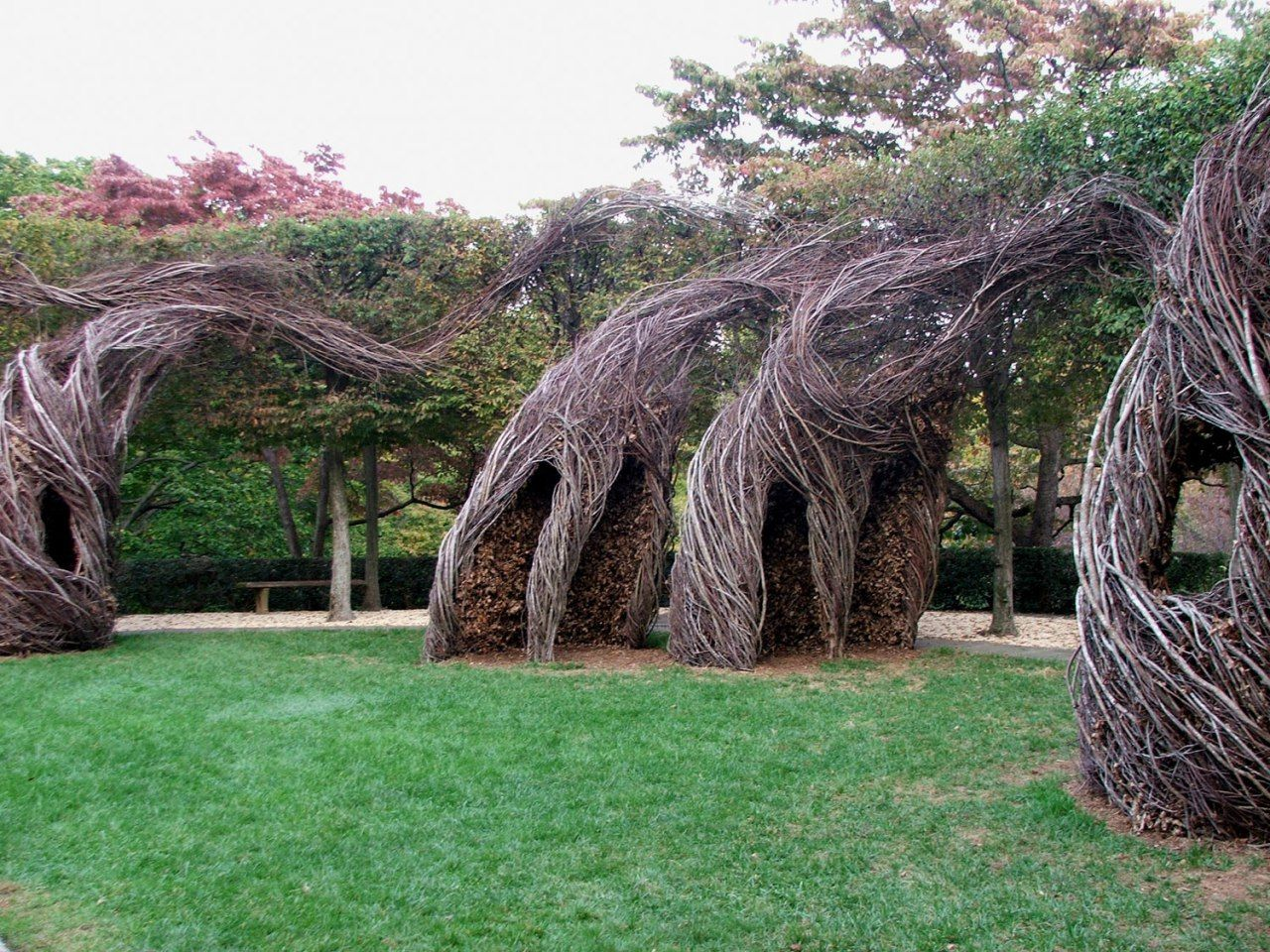 Help Build This Cool Patrick Dougherty Sculpture In Pease Park Austin Arts Seeing Things Land Art Arte Concettuale Paesaggi