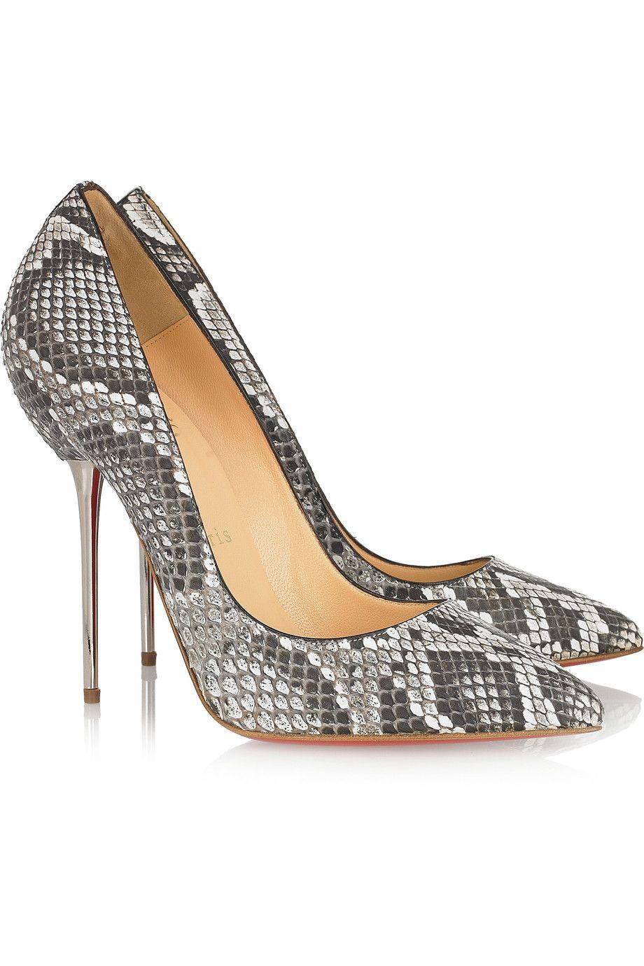 Christian Louboutin - Lipsinka 120 pin-heeled python pumps
