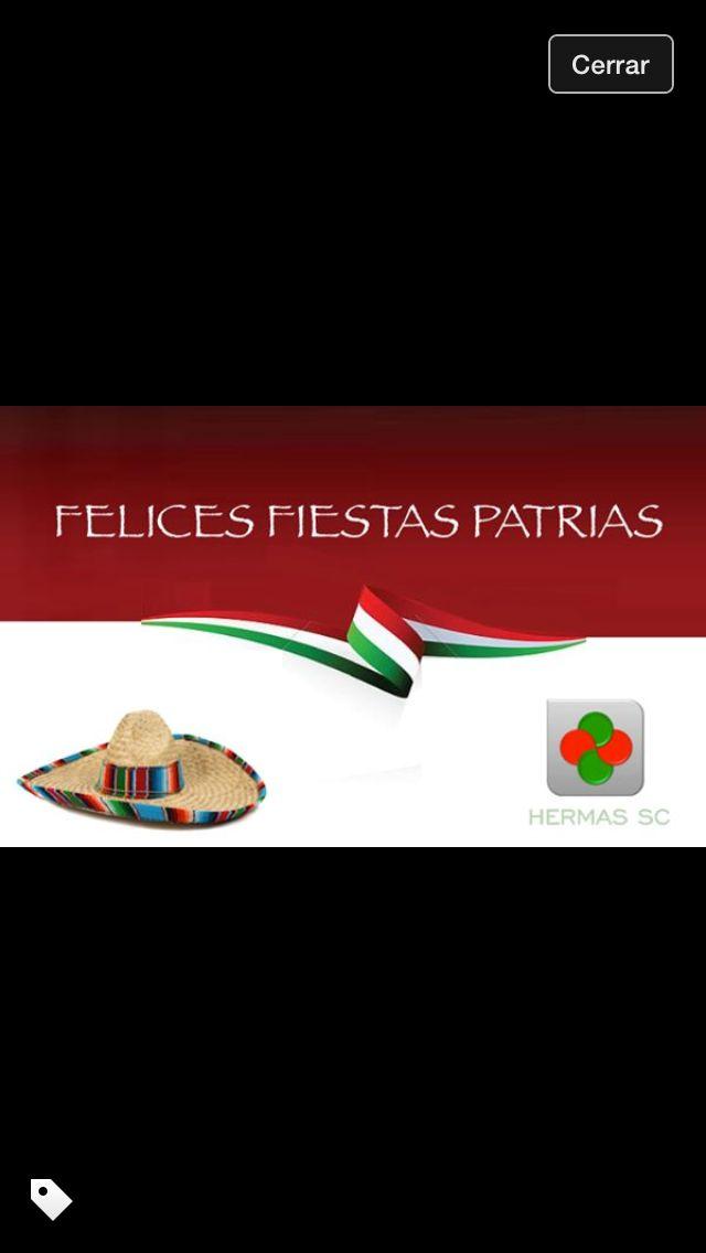 #FelicesFiestasPatrias #VivaMéxico  Pásen excelentes fiestas patrias y recuerden que todo con moderación.
