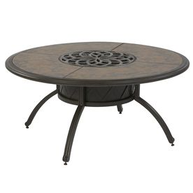 Garden Treasures Willow Pass 42 In Tile Top Aluminum Frame Round Patio. Coffee  Table ...