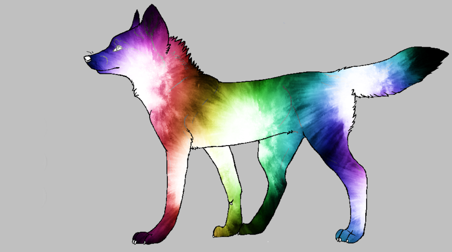 Rainbow Wolf Adopt By SyoshoHiataki On