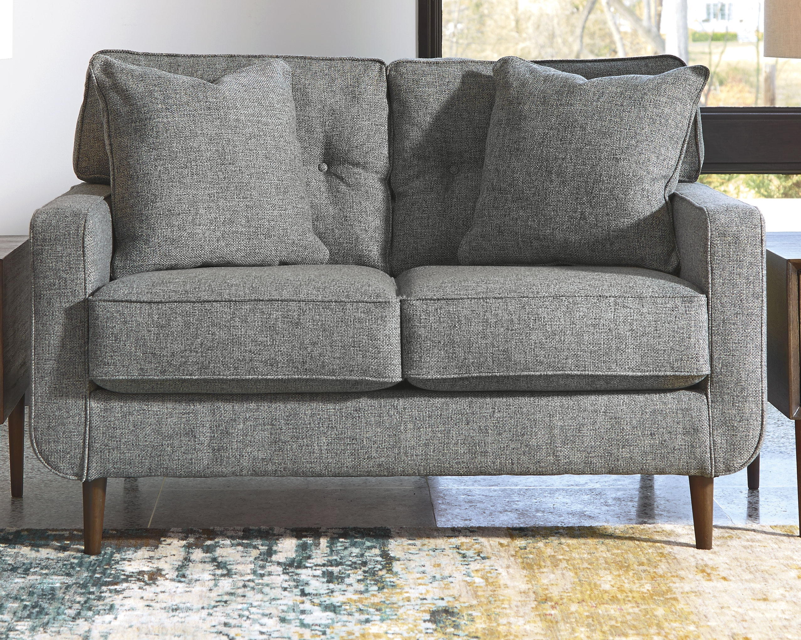 Zardoni Loveseat Charcoal Furniture Furniture Decor
