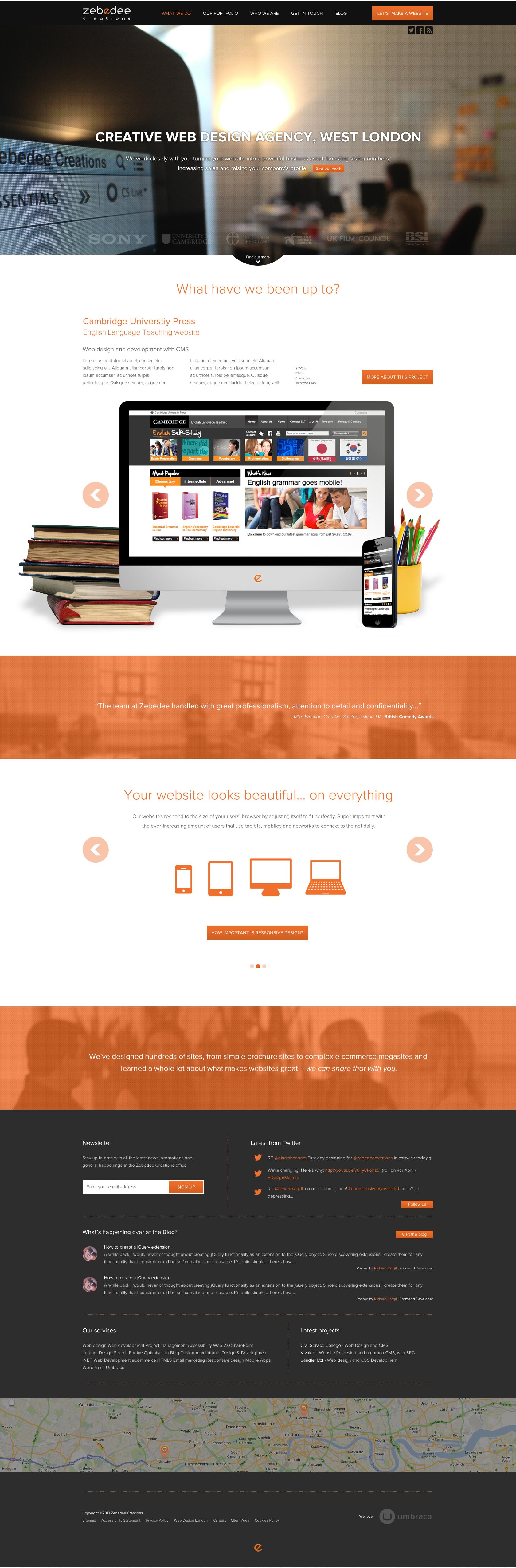 New Zebedee Creations Website Designs Web Design Web Design Inspiration