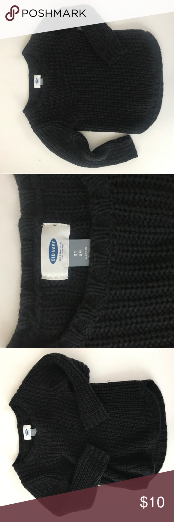 Old Navy Black Sweater Kids 3T