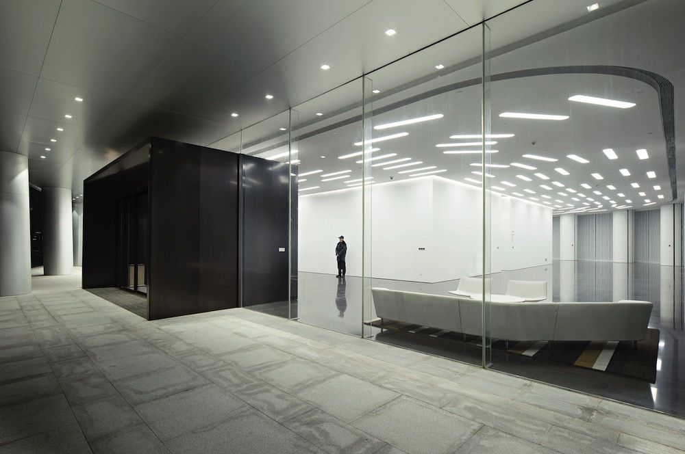Gallery of midwest commodity exchange center interdesign associates hugo kohno architect also rh in pinterest