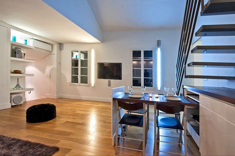 Modern Duplex Apartment Paris 16 Apartment Design House Design