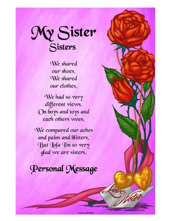 Prayer For My Sister Quotes Pleasing Thinking Of You Sister Poems  Quicksales.ausister Personalized . Decorating Inspiration